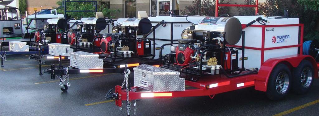 Custom Designed Trailer Pressure Washers Power Line