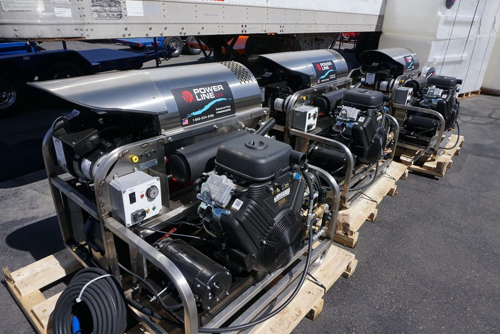 Skid-mounted Pressure Power Washers