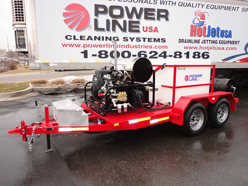 Trailer Power Washers Power Line Industries Inc