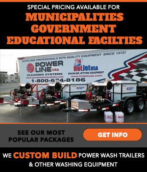 WE CUSTOM BUILD POWER WASH TRAILERS FOR MUNICIPALITIES, GOVERNMENT & EDUCATIONAL FACILITIES. CALL FOR SPECIAL PRICING