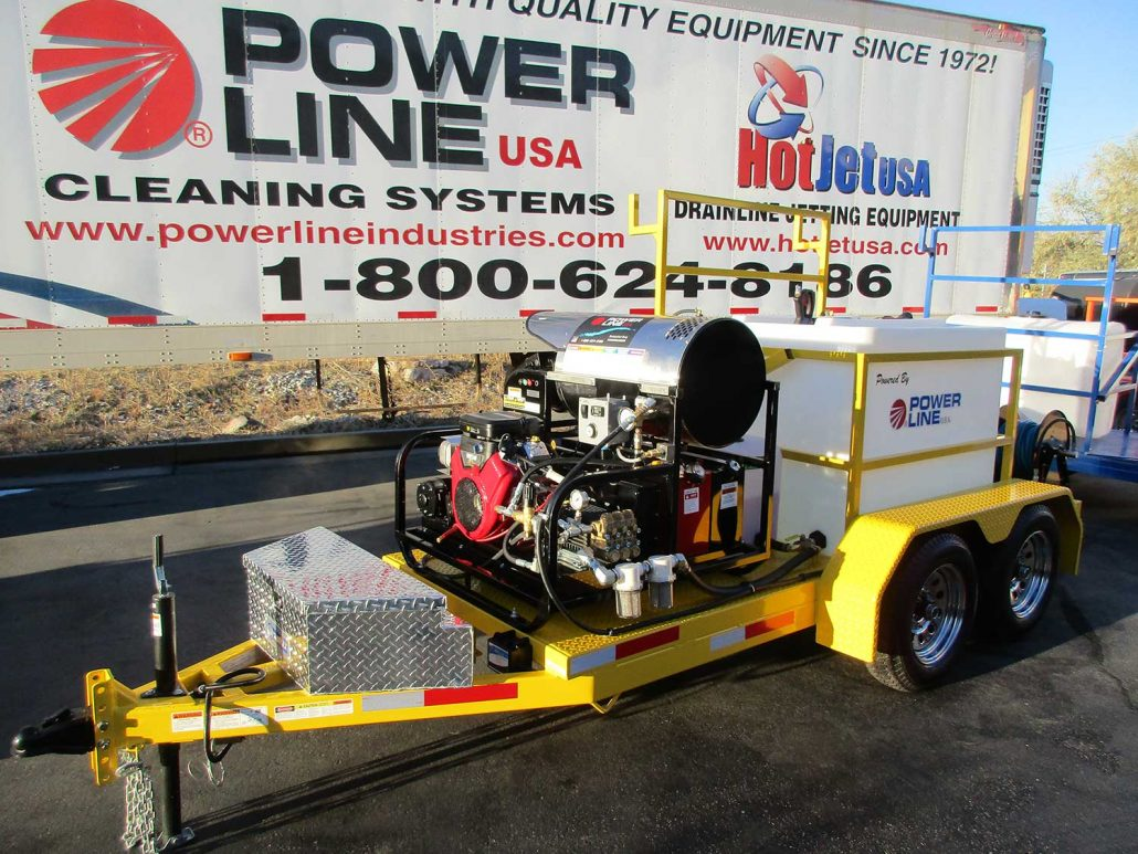 23HP Tandem Axle Trailer Mounted Pressure Washer HD23 Package