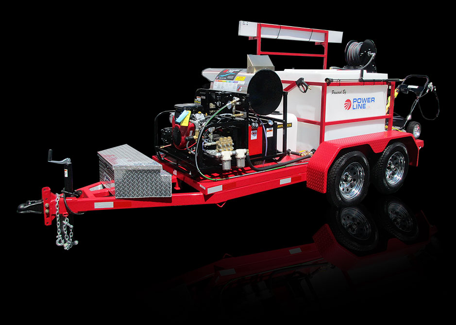 23HP Tandem Axle Trailer Mounted Pressure Washer HD23